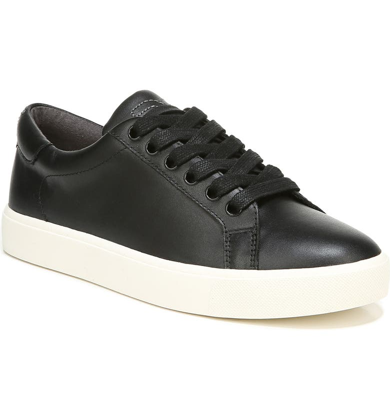 SAM EDELMAN Ethyl Low Top Sneaker, Main, color, BLACK LEATHER