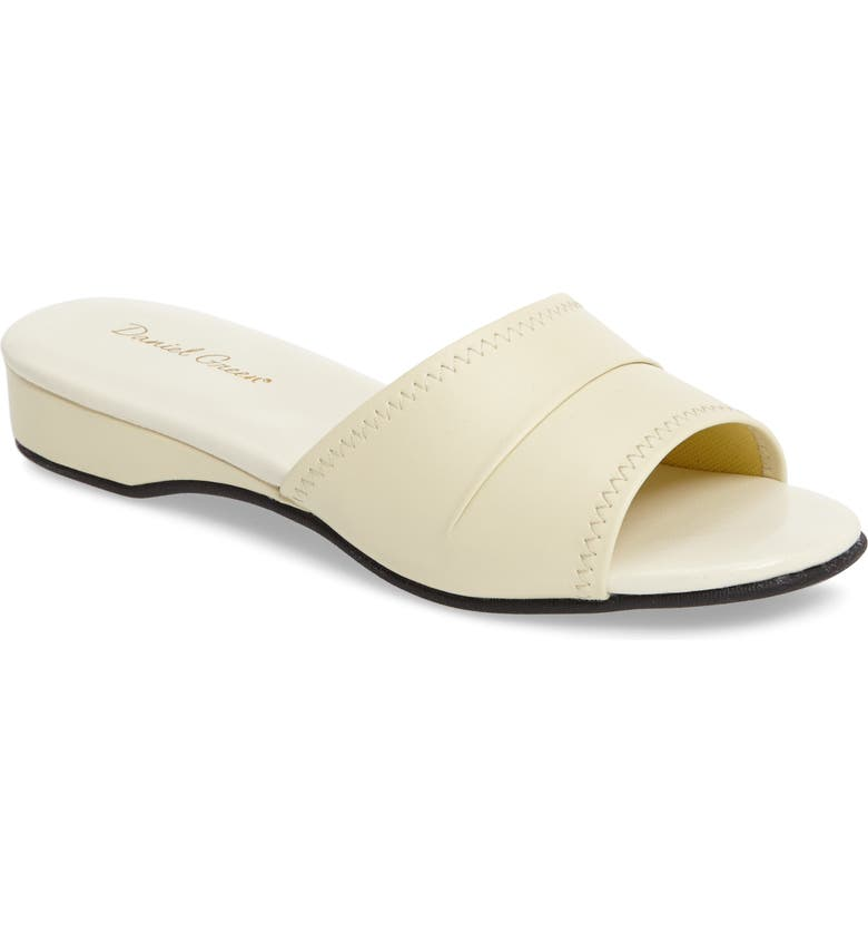 DANIEL GREEN 'Dormie' Slipper, Main, color, BONE FAUX LEATHER