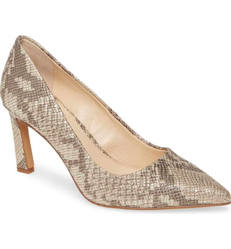 VINCE CAMUTO Retsie Pointed Toe Pump, Main, color, GILDED