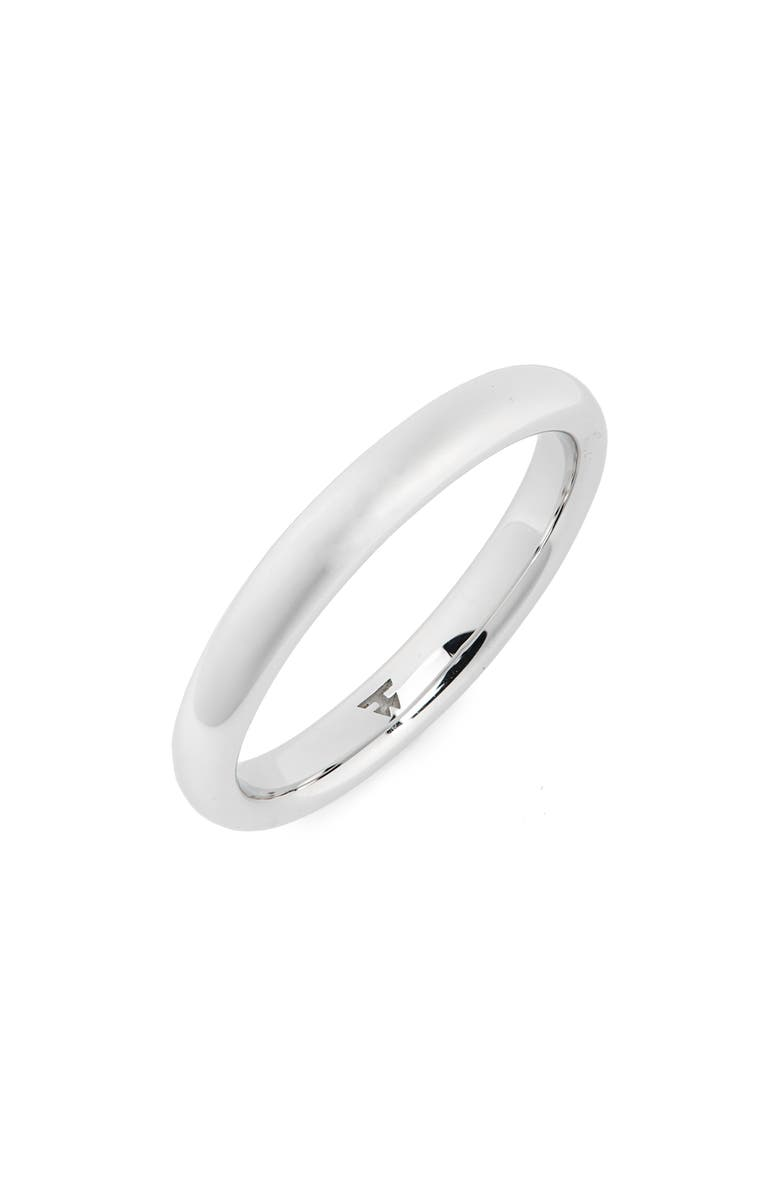 TOM WOOD Slim Polished Classic Sterling Silver Band, Main, color, 925 STERLING SILVER