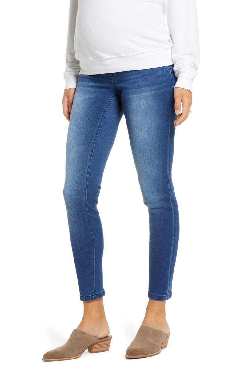 1822 DENIM Butter Maternity Ankle Skinny Jeans, Main, color, DONNA