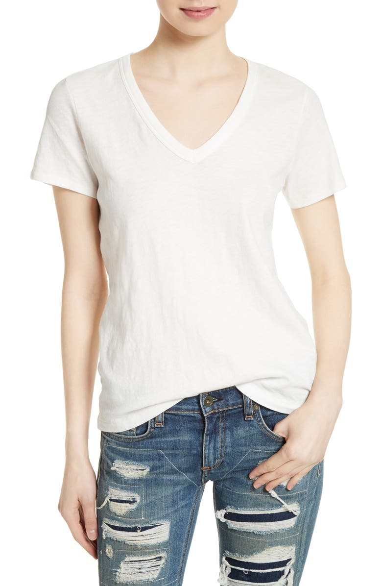 RAG & BONE The Vee Tee, Main, color, BRIGHT WHITE