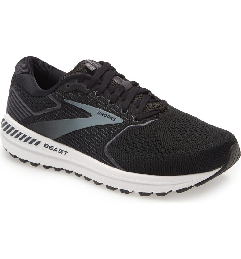 BROOKS Beast 20 Running Shoe, Main, color, BLACK/ EBONY/ GREY