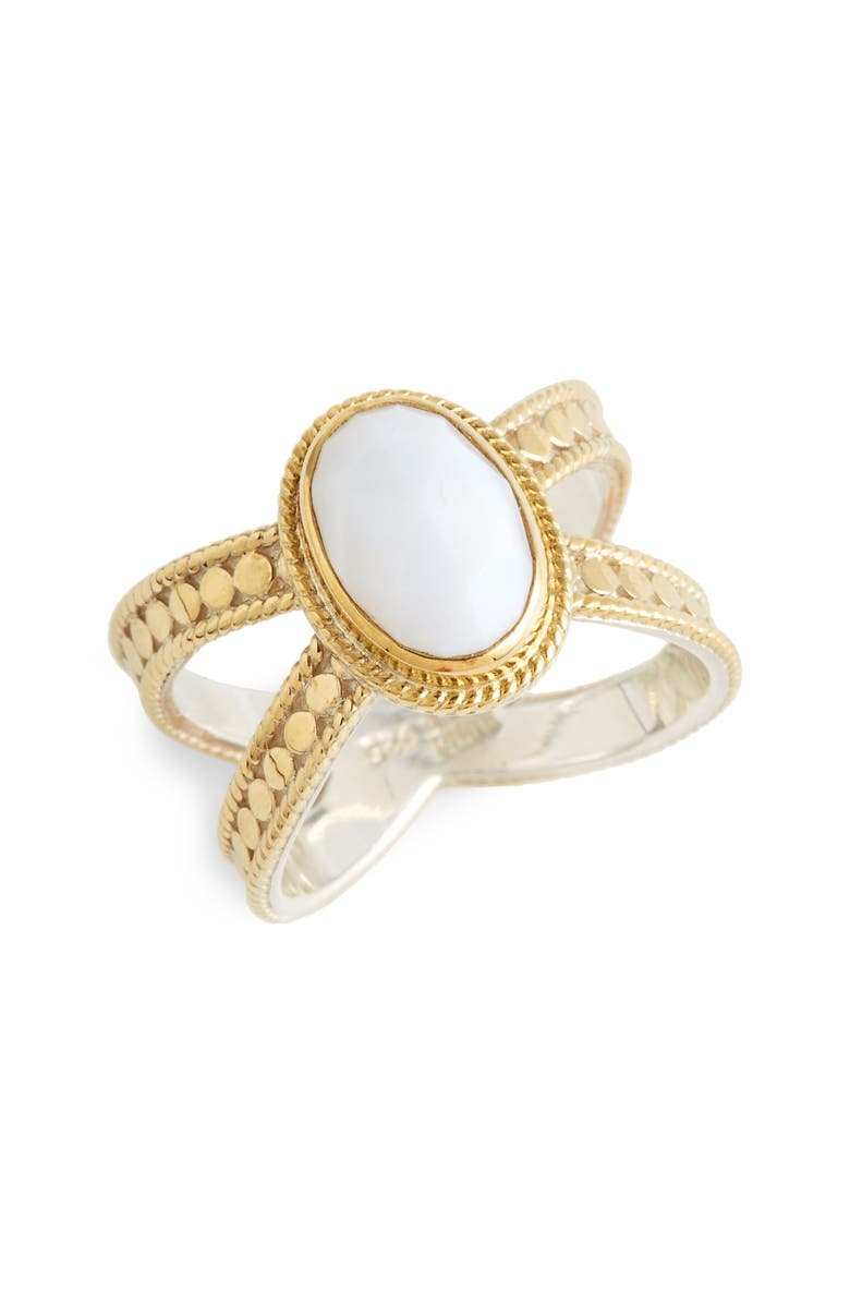 ANNA BECK White Opal Cross Ring, Main, color, 710