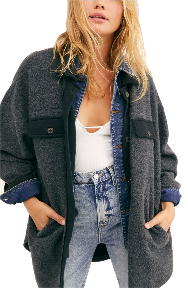 FREE PEOPLE Ruby Jacket, Main, color, WASHED BLACK