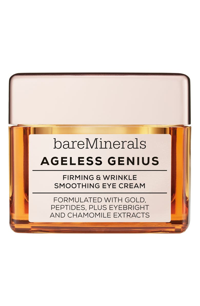 BAREMINERALS<SUP>®</SUP> Ageless Genius Firming & Wrinkle Smoothing Eye Cream, Main, color, NO COLOR