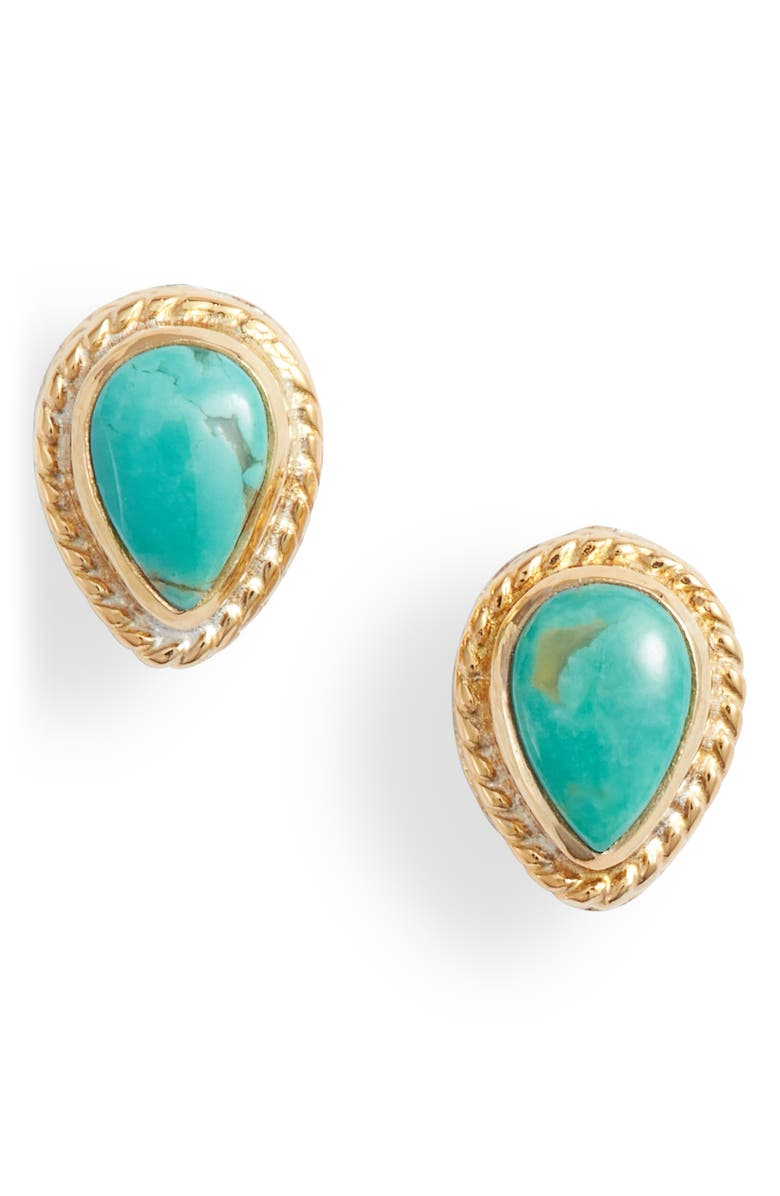 ANNA BECK Turquoise Stud Earrings, Main, color, 710