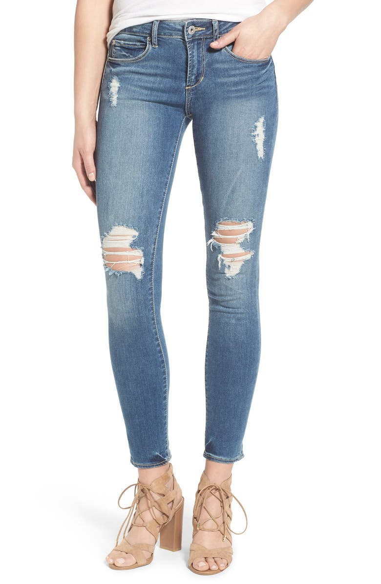 ARTICLES OF SOCIETY 'Karen' Distressed Crop Skinny Jeans, Main, color, 407