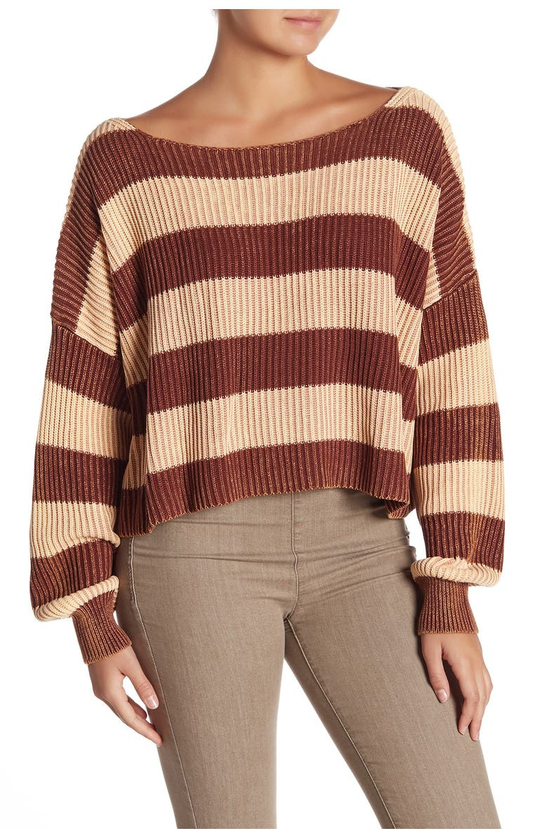FREE PEOPLE Just My Stripe Sweater, Main, color, 111