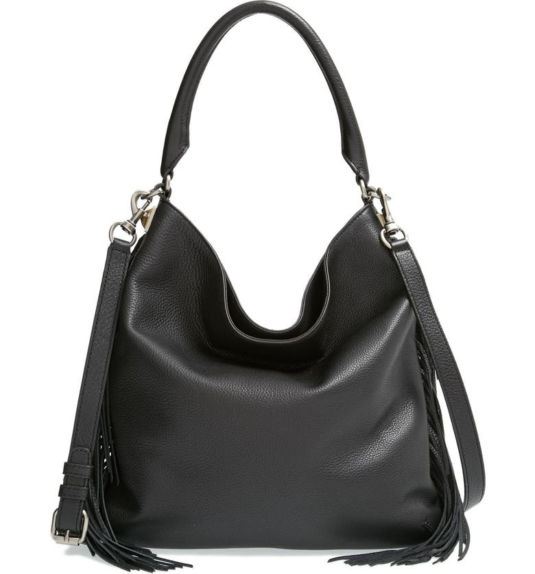 REBECCA MINKOFF 'Clark' Hobo Bag, Main, color, 001