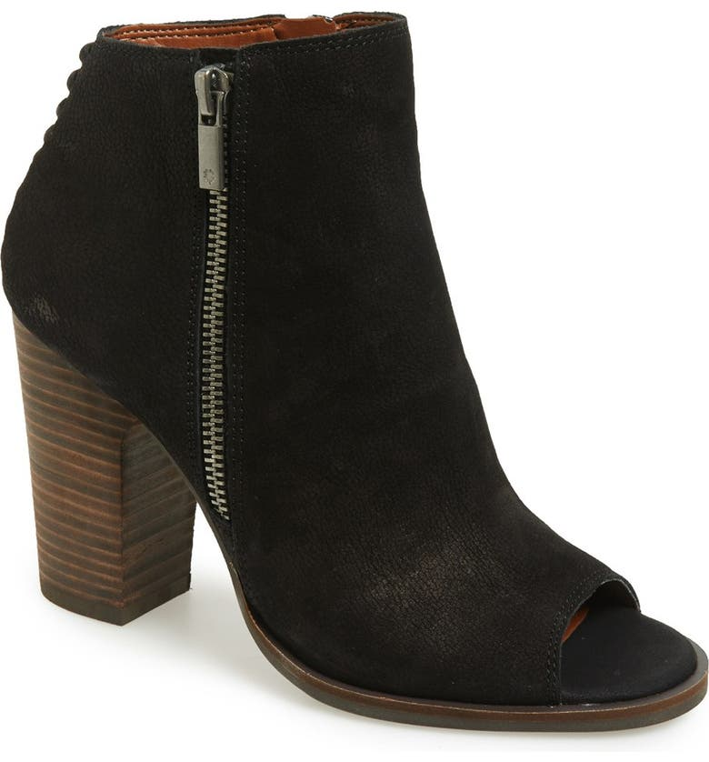LUCKY BRAND 'Lamija' Open Toe Bootie, Main, color, 001