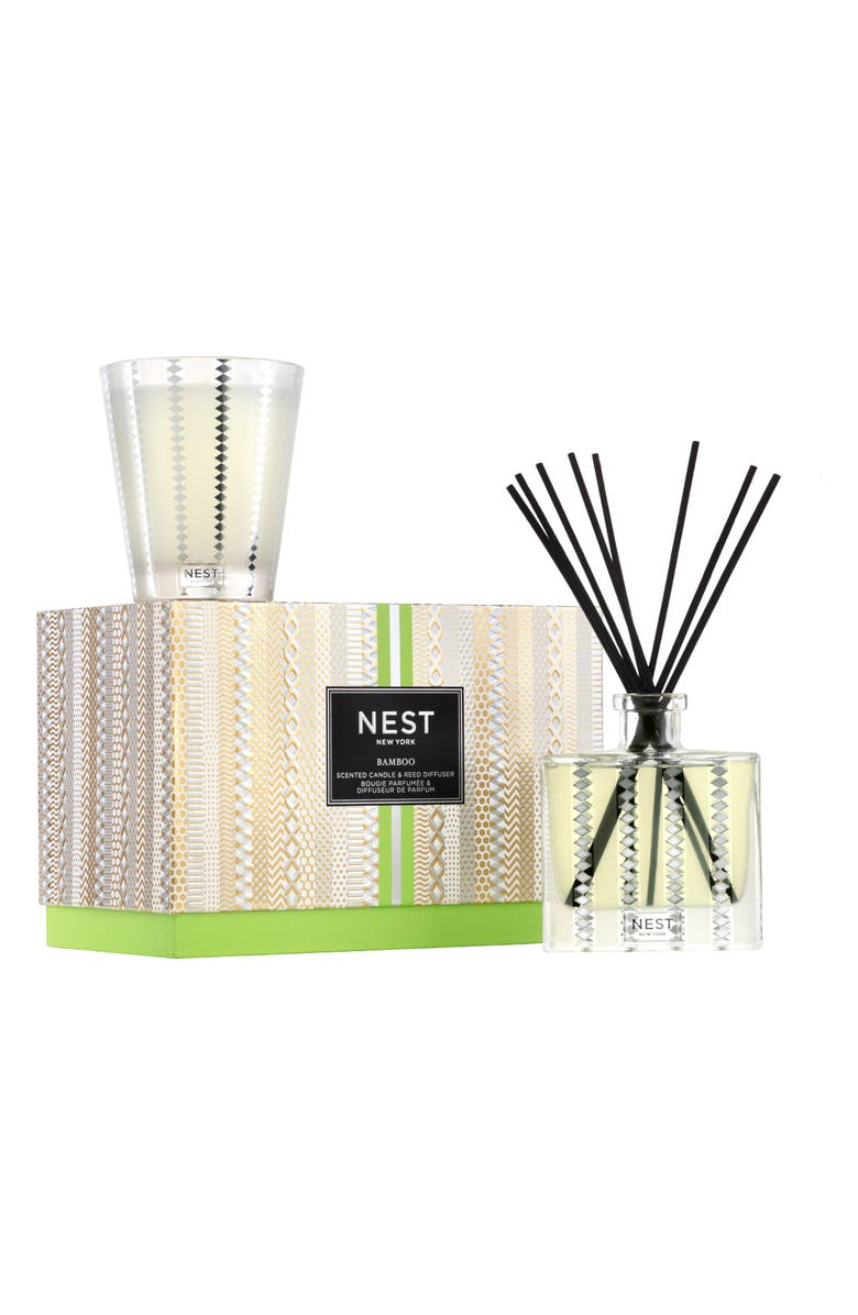 NEST NEW YORK Bamboo Candle & Reed Diffuser Set, Main, color, NO COLOR