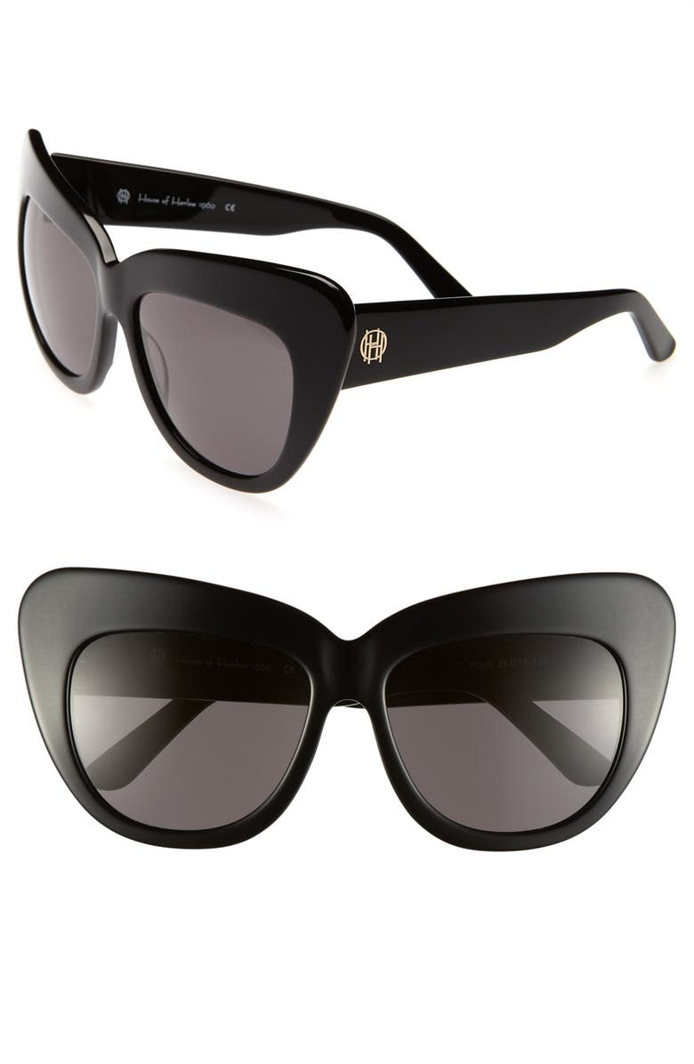 HOUSE OF HARLOW 1960 'Chelsea' 56mm Sunglasses, Main, color, 001