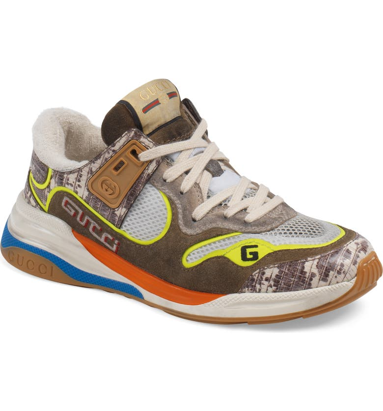 GUCCI Ultrapace Low Top Sneaker, Main, color, BROWN/ GREEN/ BLUE
