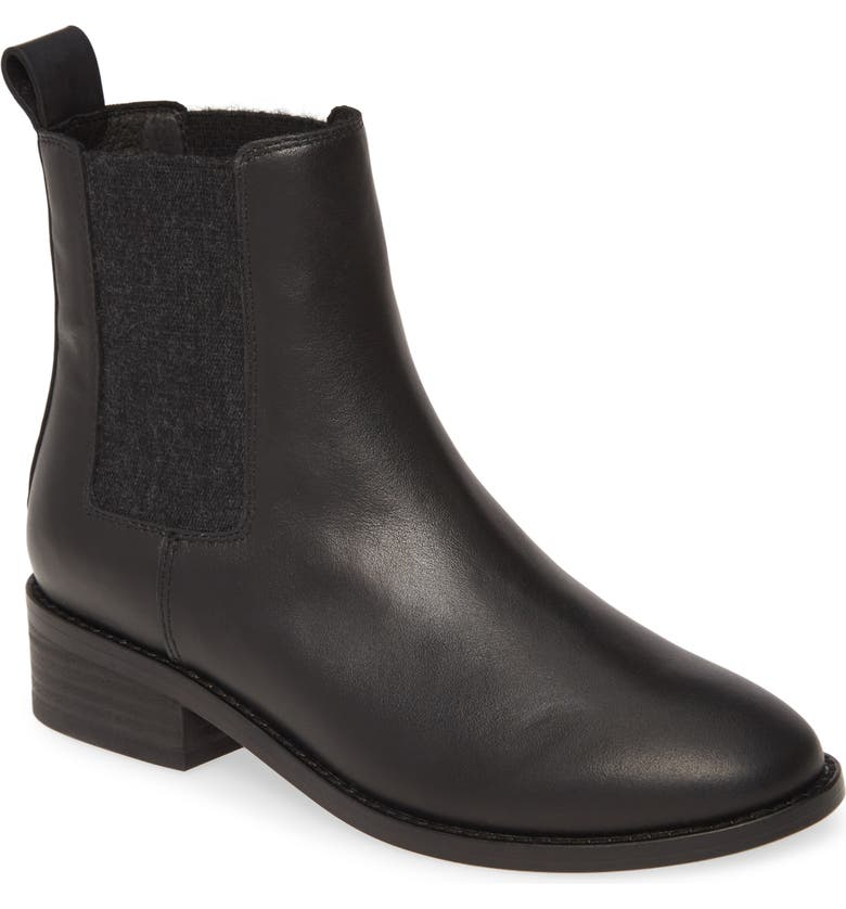 EILEEN FISHER Vent Chelsea Boot, Main, color, 001