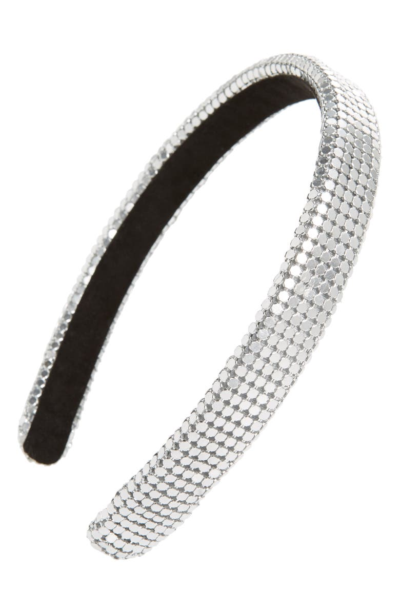 TASHA Chain Mail Headband, Main, color, 040