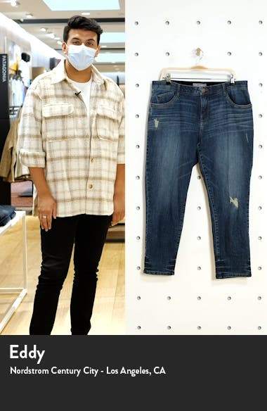 Ab-Solution High Waist Distressed Crop Skinny Jeans, sales video thumbnail