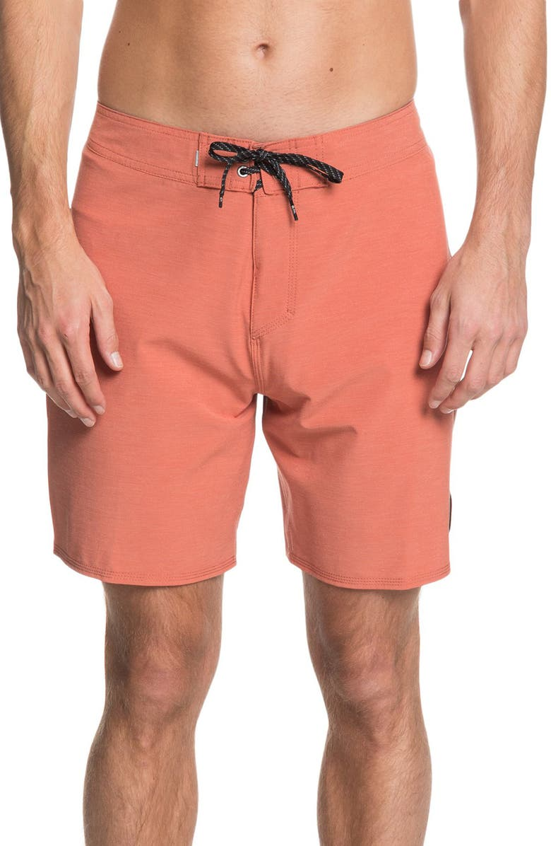 QUIKSILVER Highline Piped Water Repellent Board Shorts, Main, color, REDWOOD