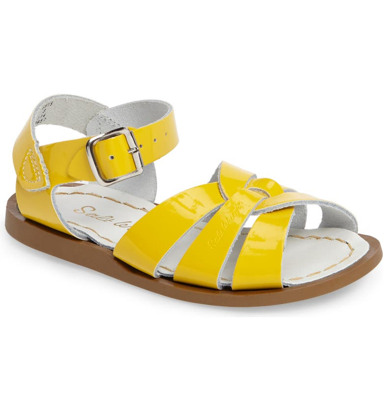 SALT WATER SANDALS BY HOY Original Sandal, Main, color, SHINY YELLOW