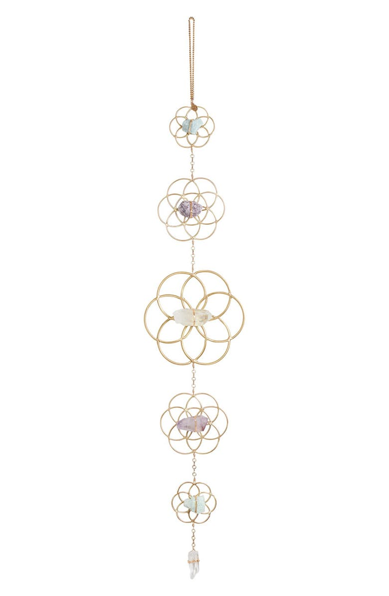 ARIANA OST Flower of Life Wall Hanging, Main, color, Gold