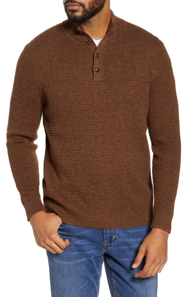 TOMMY BAHAMA Mock Neck Henley Sweater, Main, color, 201