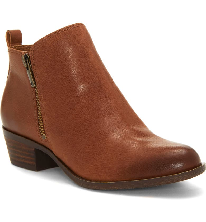 LUCKY BRAND Basel Bootie, Main, color, TOFFEE LEATHER