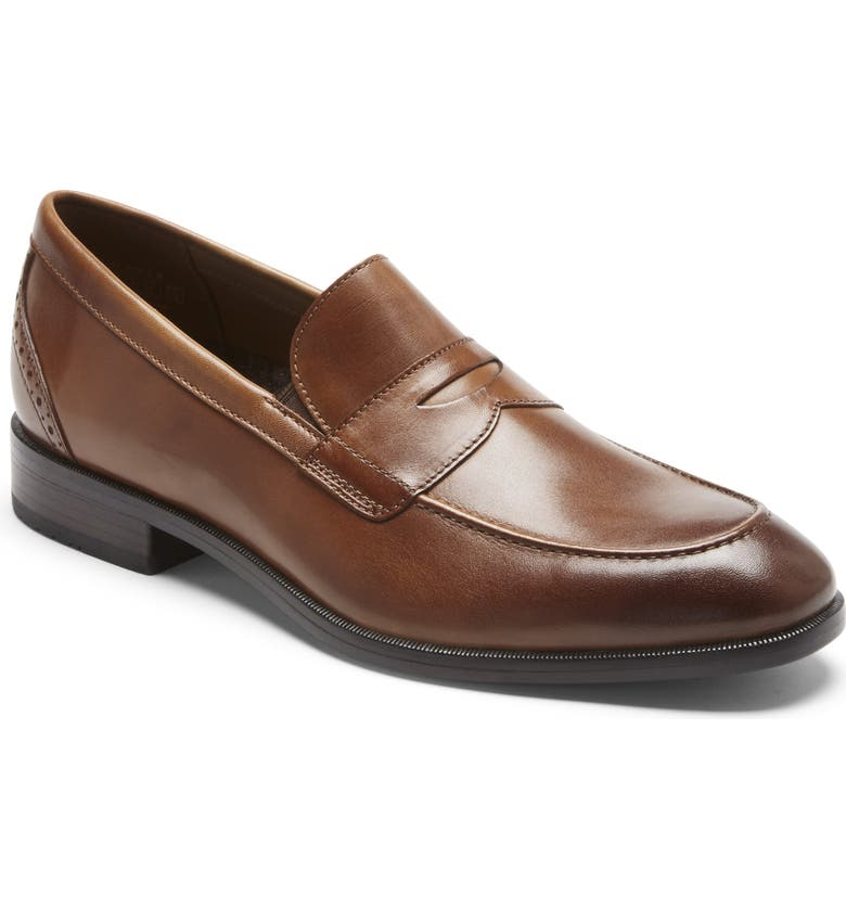 ROCKPORT Total Motion Office Penny Loafer, Main, color, BRITISH TAN