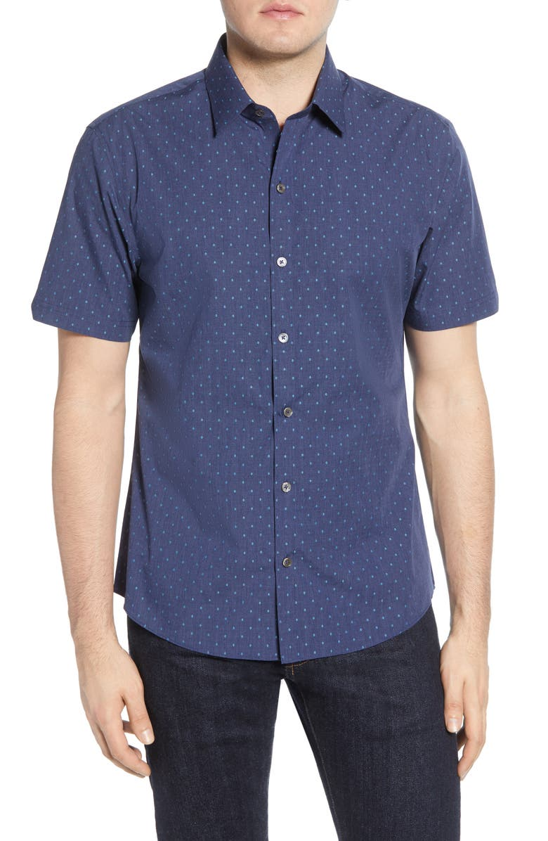 ZACHARY PRELL Tayport Regular Fit Short Sleeve Button-Up Sport Shirt, Main, color, 471