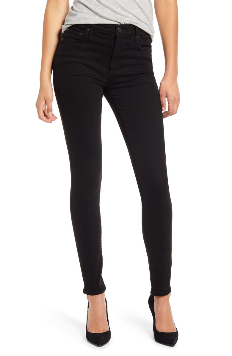 CITIZENS OF HUMANITY Rocket Ankle Skinny Jeans, Main, color, PLUSH BLACK