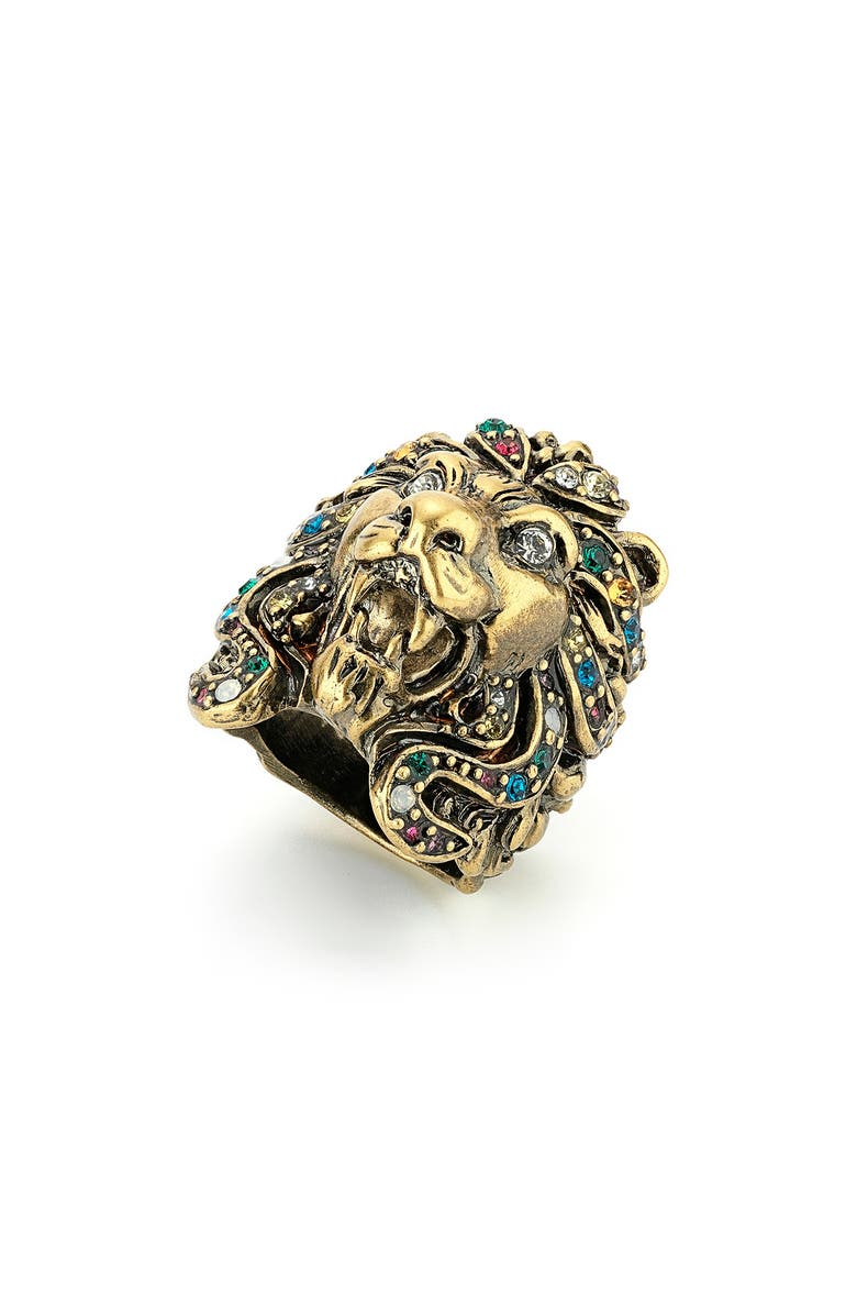 GUCCI Lion Ring, Main, color, 710