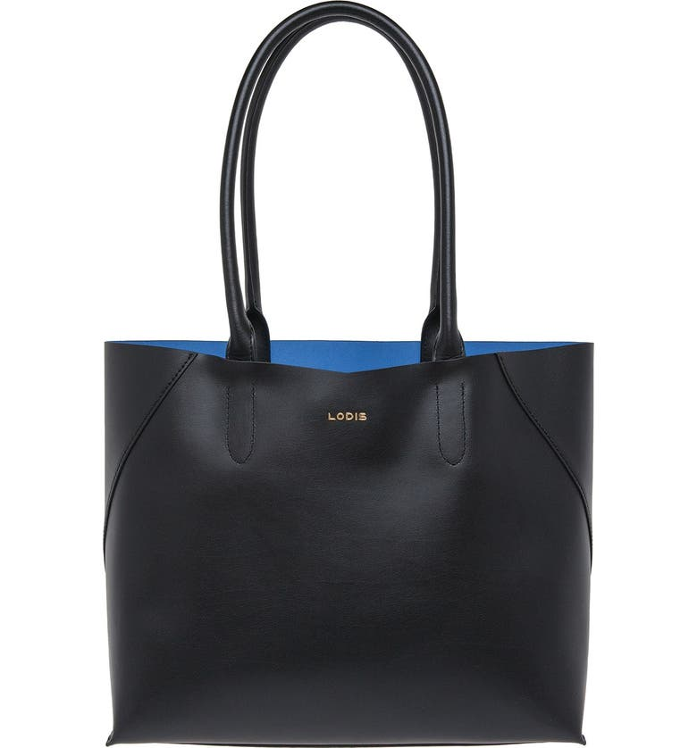 LODIS LOS ANGELES Lodis Blair Collection Cynthia Leather Tote, Main, color, 001