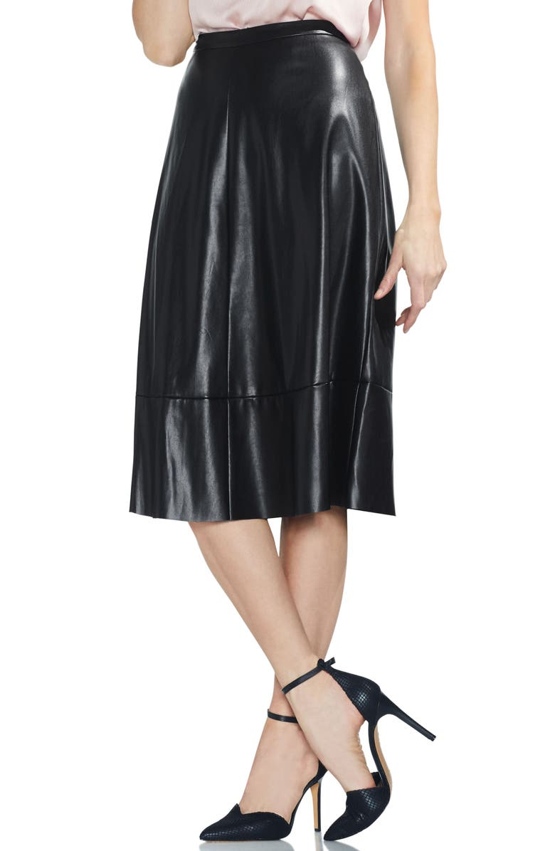 VINCE CAMUTO Faux Leather Skirt, Main, color, 060