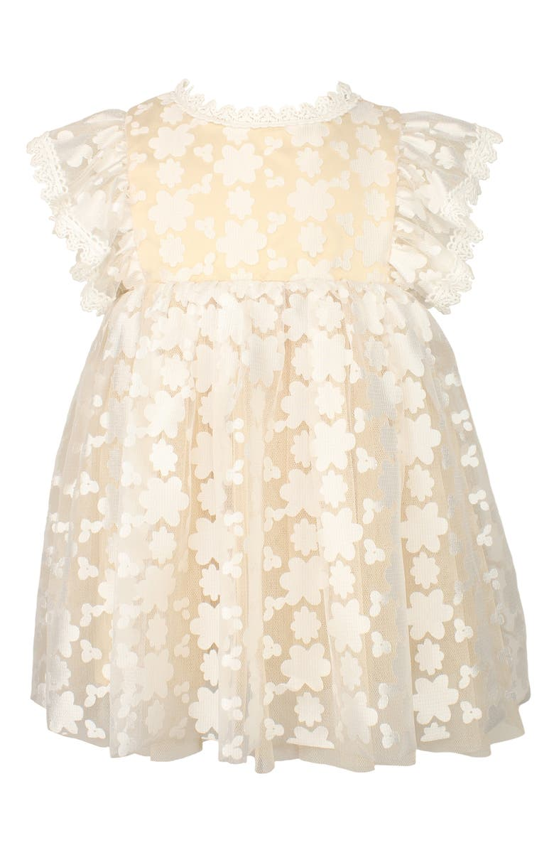 POPATU Kids' Floral Tulle Pinafore Dress, Main, color, BEIGE