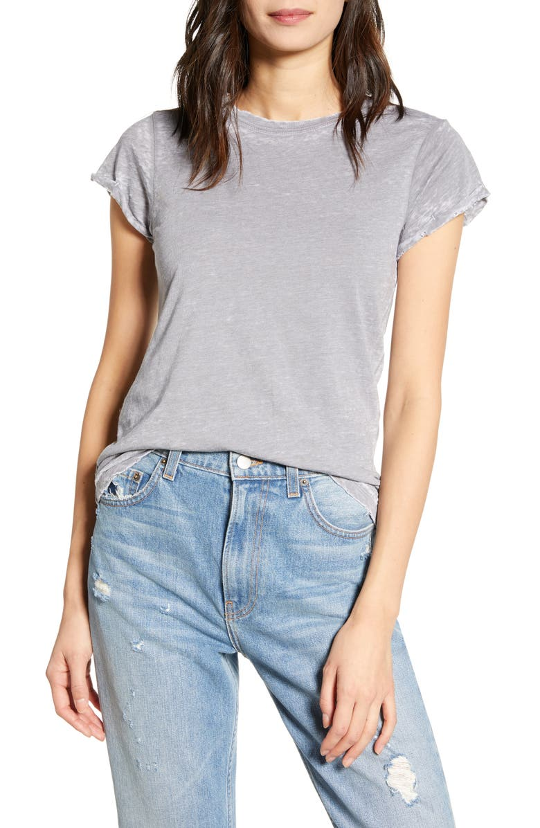 RECYCLED KARMA Steel Burnout Tee, Main, color, 020