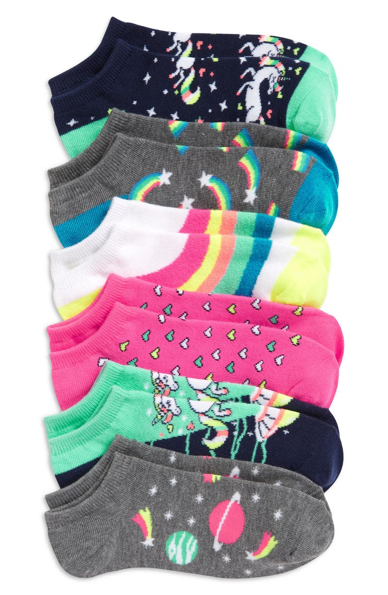 TUCKER + TATE Kids' Assorted 6-Pack Low Cut Socks, Main, color, SPACE UNICORN PACK