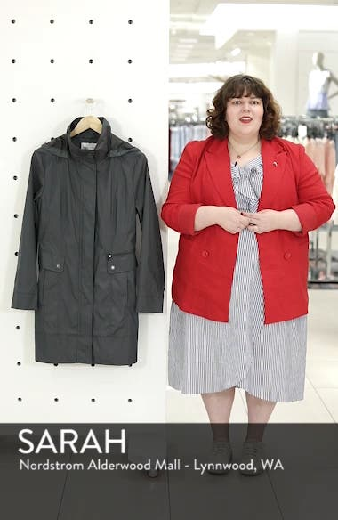 Back Bow Packable Hooded Raincoat, sales video thumbnail