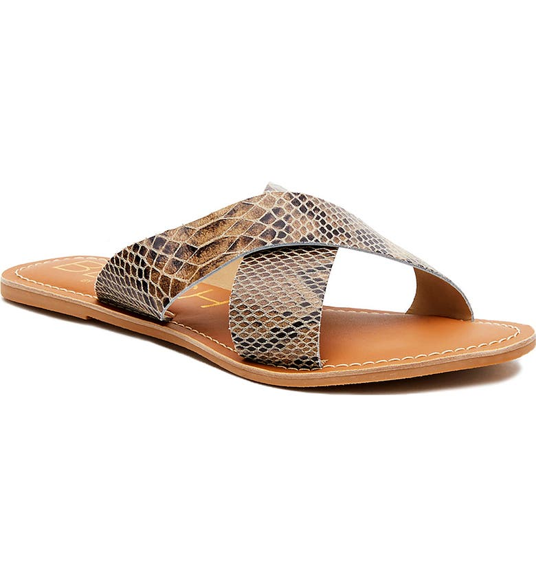 COCONUTS BY MATISSE Pebble Slide Sandal, Main, color, TAUPE SNAKE