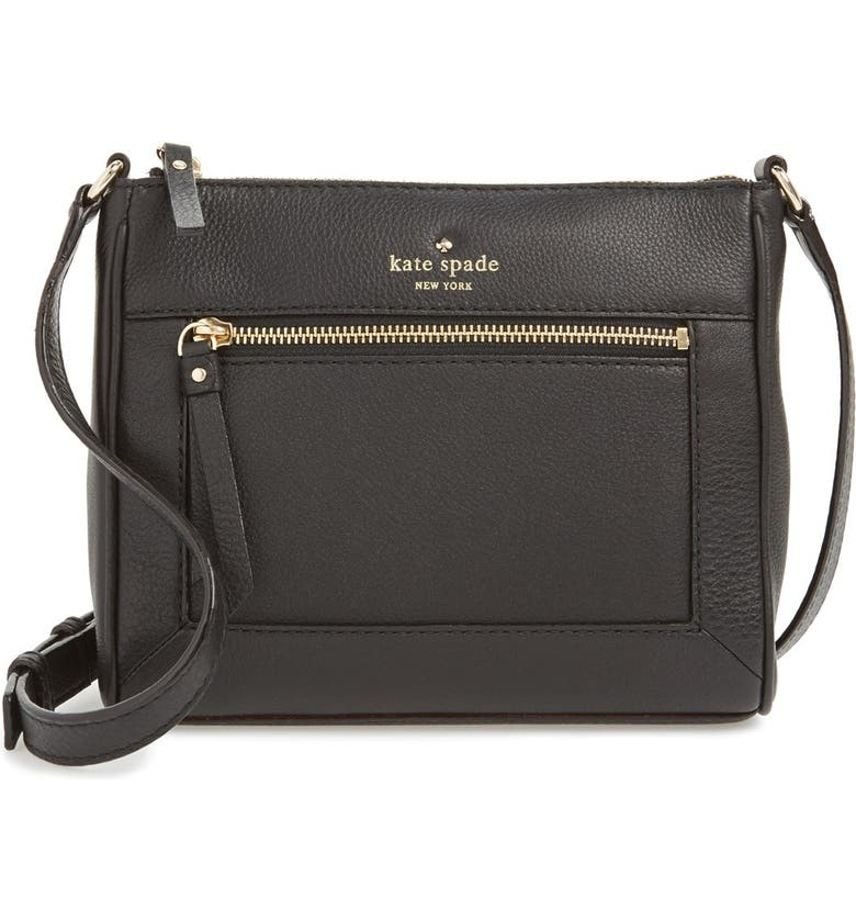 KATE SPADE NEW YORK 'cobble hill - deni' leather crossbody bag, Main, color, 001