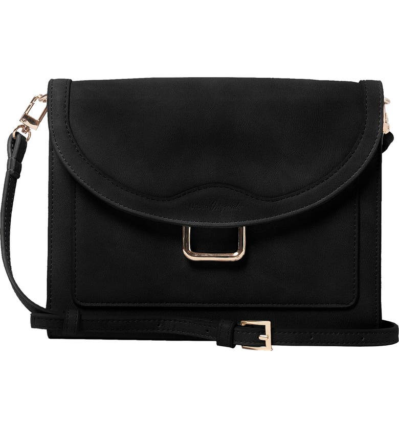 URBAN ORIGINALS The Edit Vegan Leather Crossbody Bag, Main, color, 001