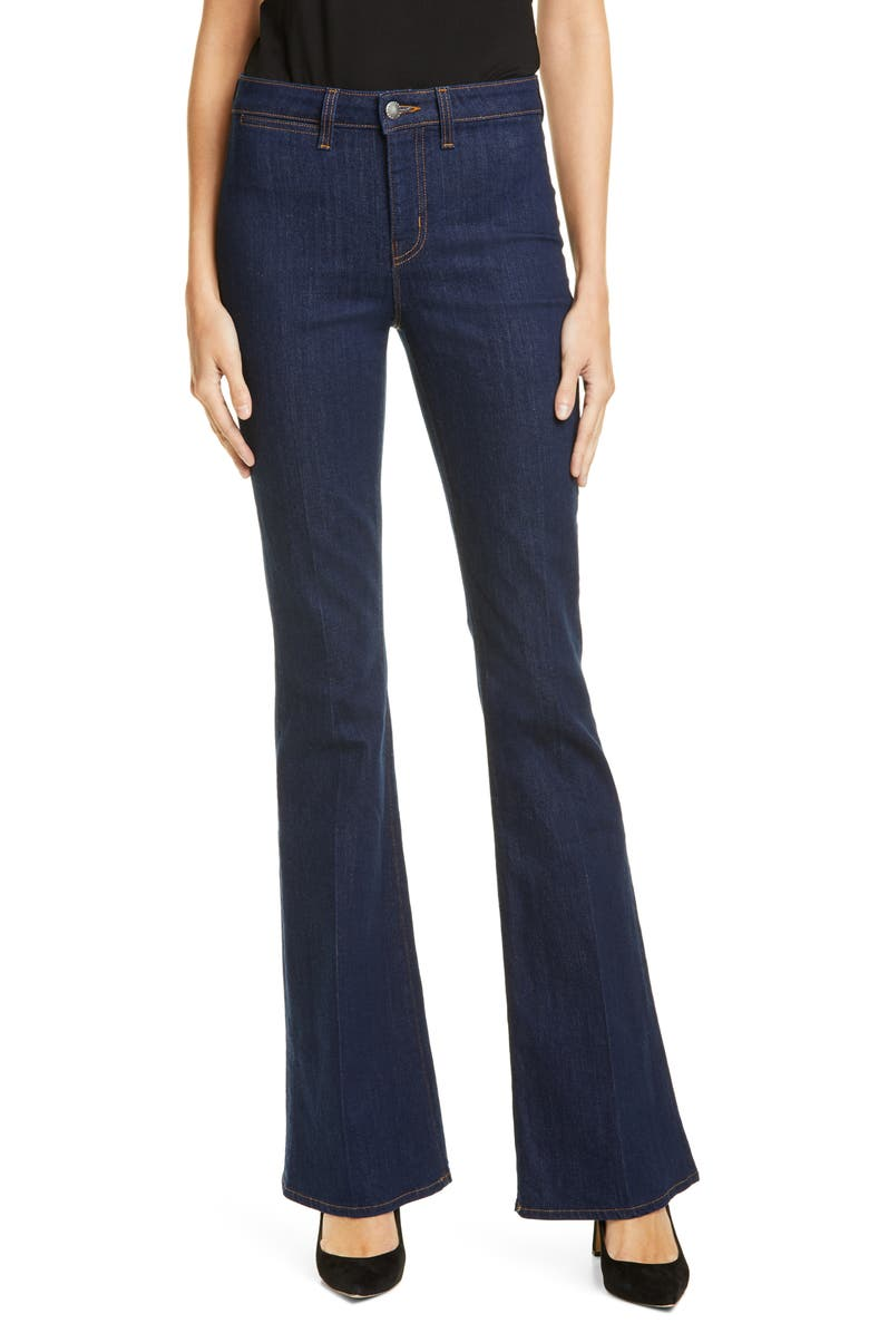 LAGENCE Joplin High Rise Flare Jeans, Main, color, RINSE