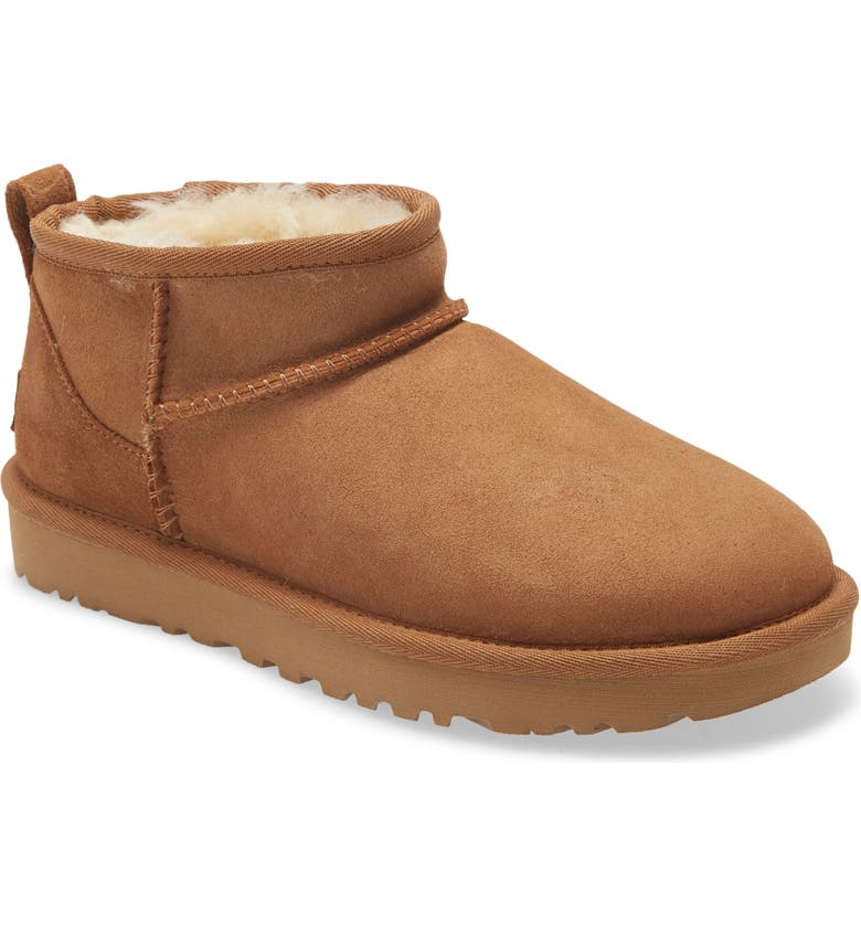 UGG<SUP>®</SUP> Ultra Mini Classic Boot, Main, color, CHESTNUT SUEDE