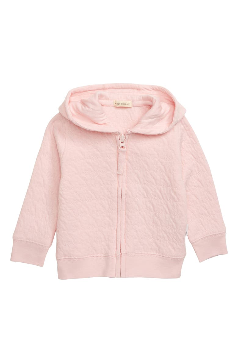 BURT'S BEES BABY Burt's Bees Organic Cotton Hooded Jacket, Main, color, BLOSSOM