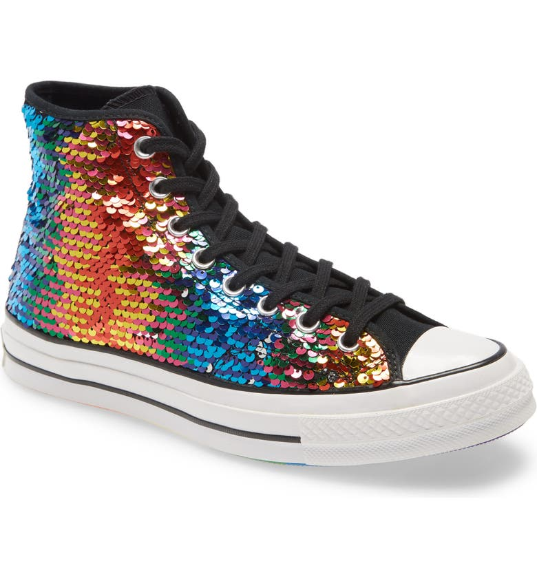 CONVERSE Chuck Taylor<sup>®</sup> All Star<sup>®</sup> 70 High Top Pride Sneaker, Main, color, 013