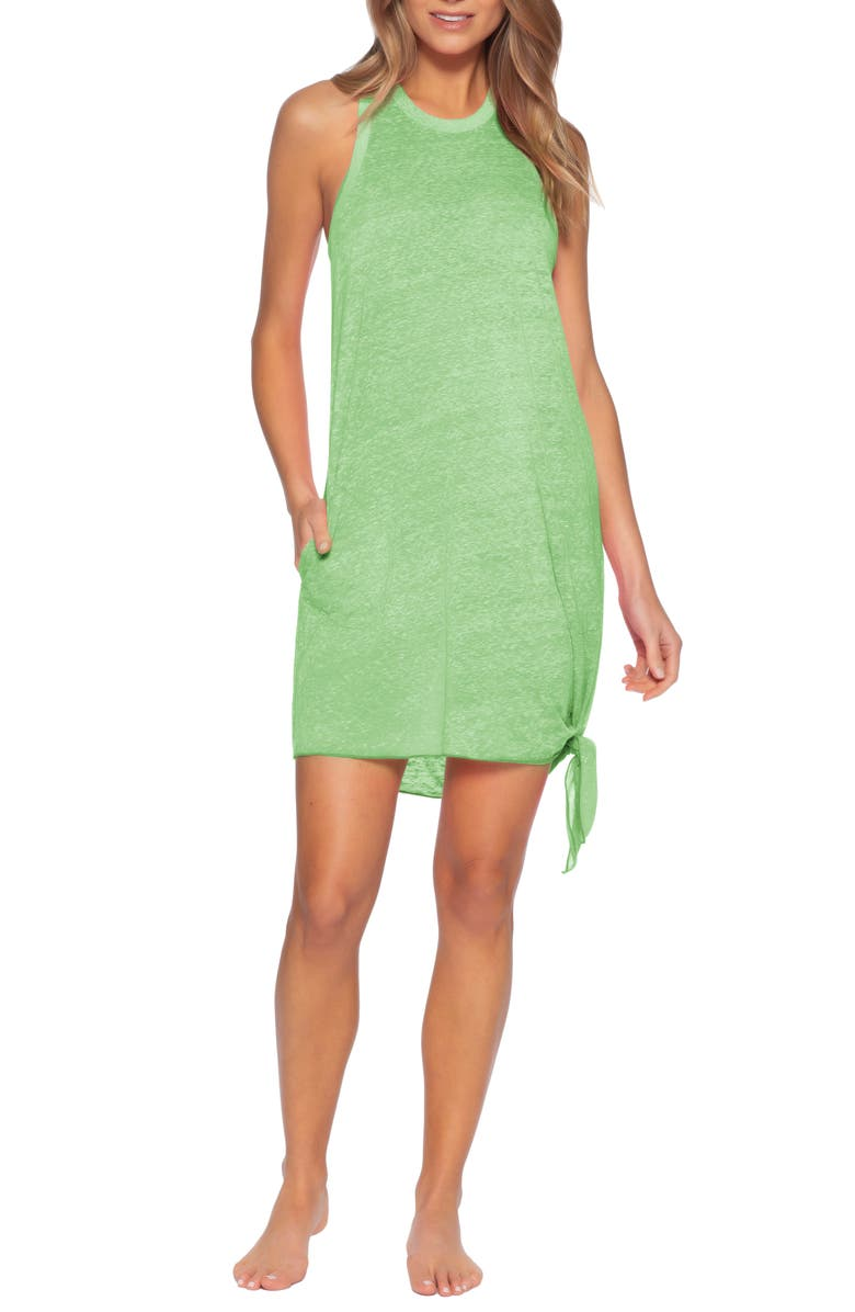 BECCA Beach Date Cover-Up Dress, Main, color, MINT