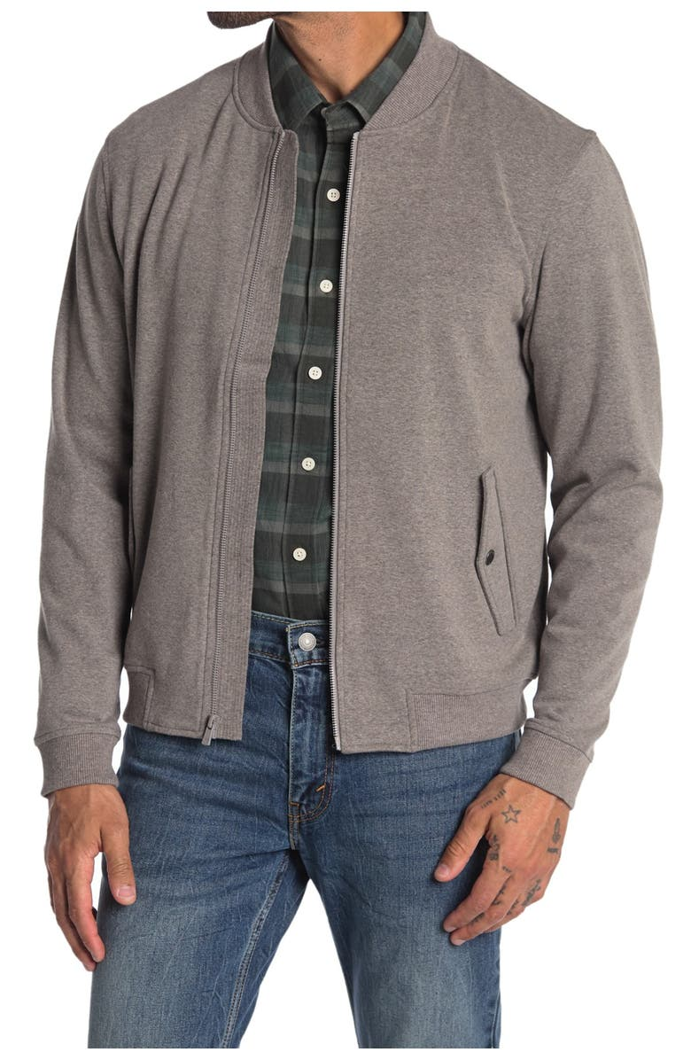 THE NORMAL BRAND Knit Bomber Jacket, Main, color, ATHLETIC GREY