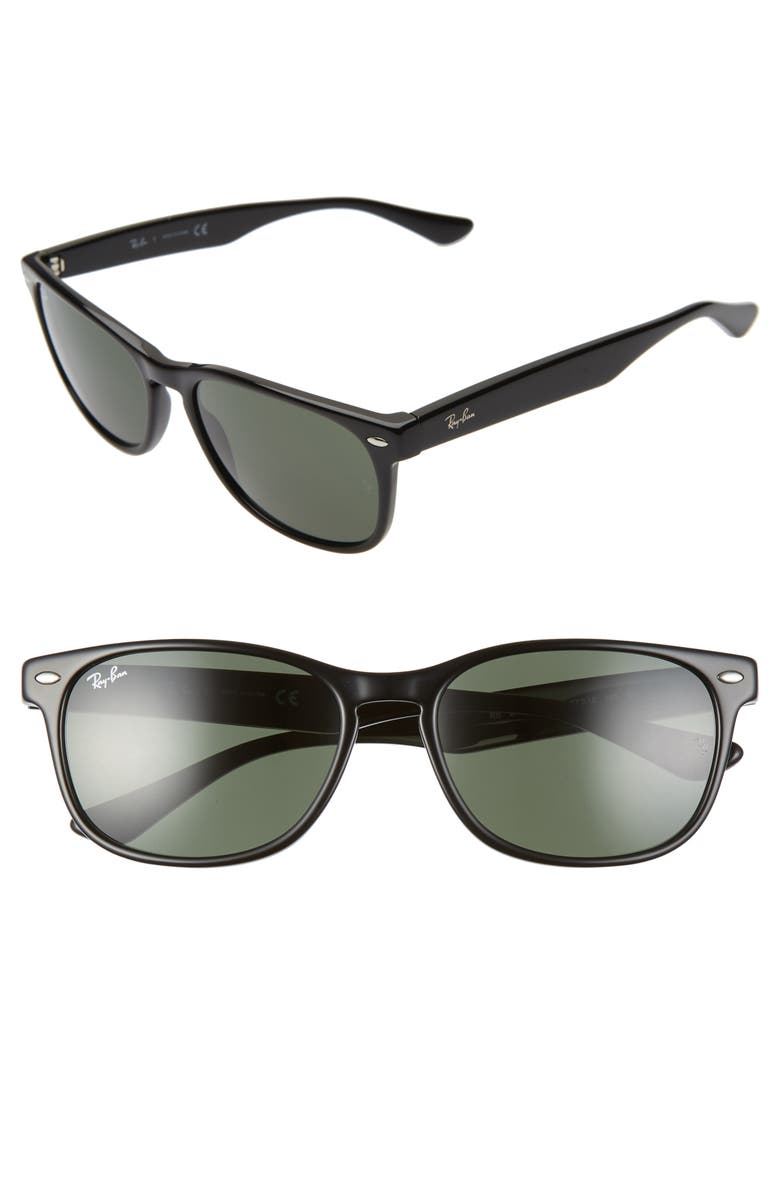 RAY-BAN 57mm Square Sunglasses, Main, color, GREEN