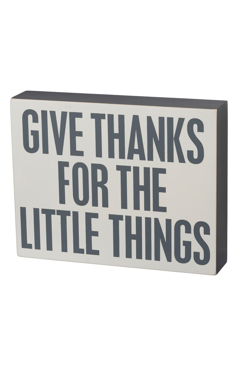 PRIMITIVES BY KATHY Give Thanks Slat Box Sign, Main, color, 020