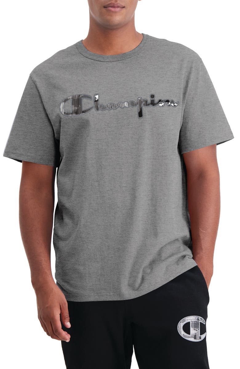 CHAMPION Heritage Graphic Tee, Main, color, OXFORD GRAY