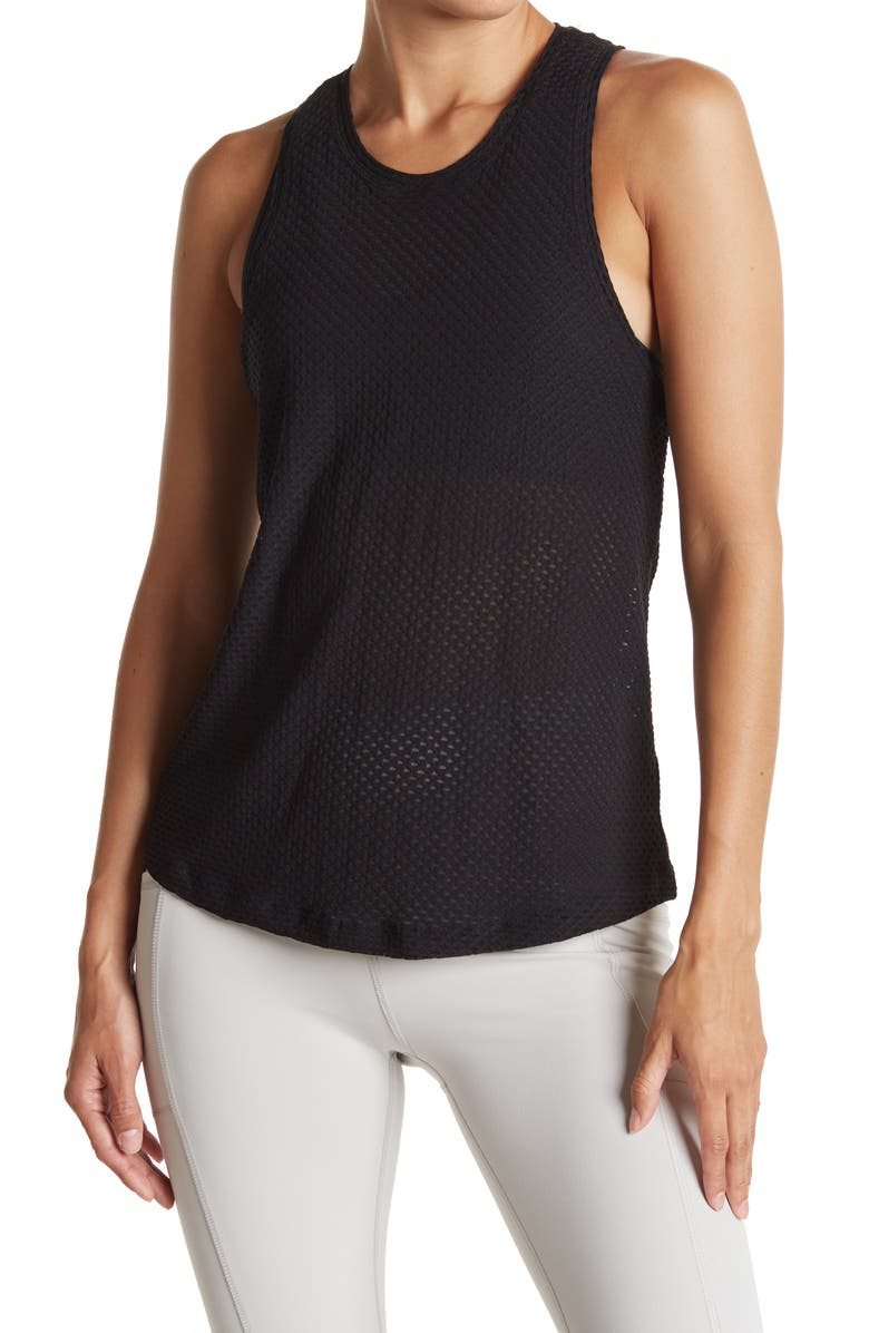 X BY GOTTEX Round Tank, Main, color, BLACK HONEYCOMB