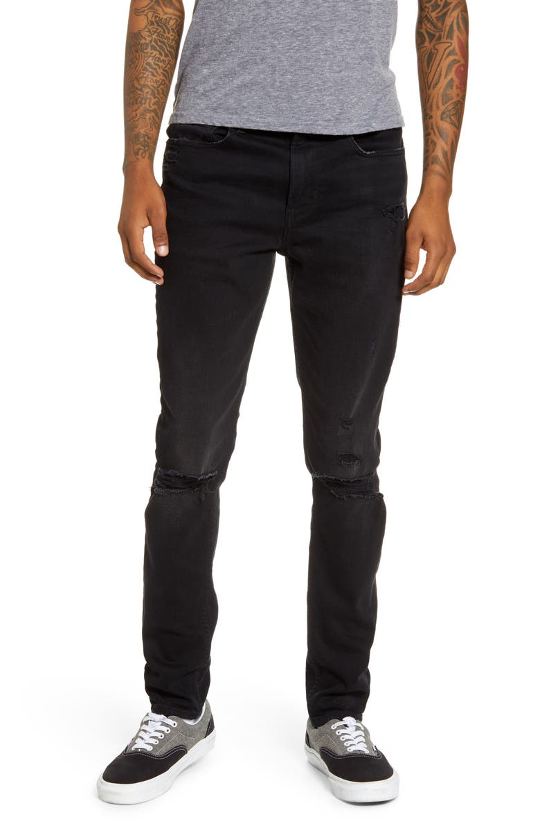 HUDSON JEANS Zack Ripped Skinny Fit Jeans, Main, color, KEEPER